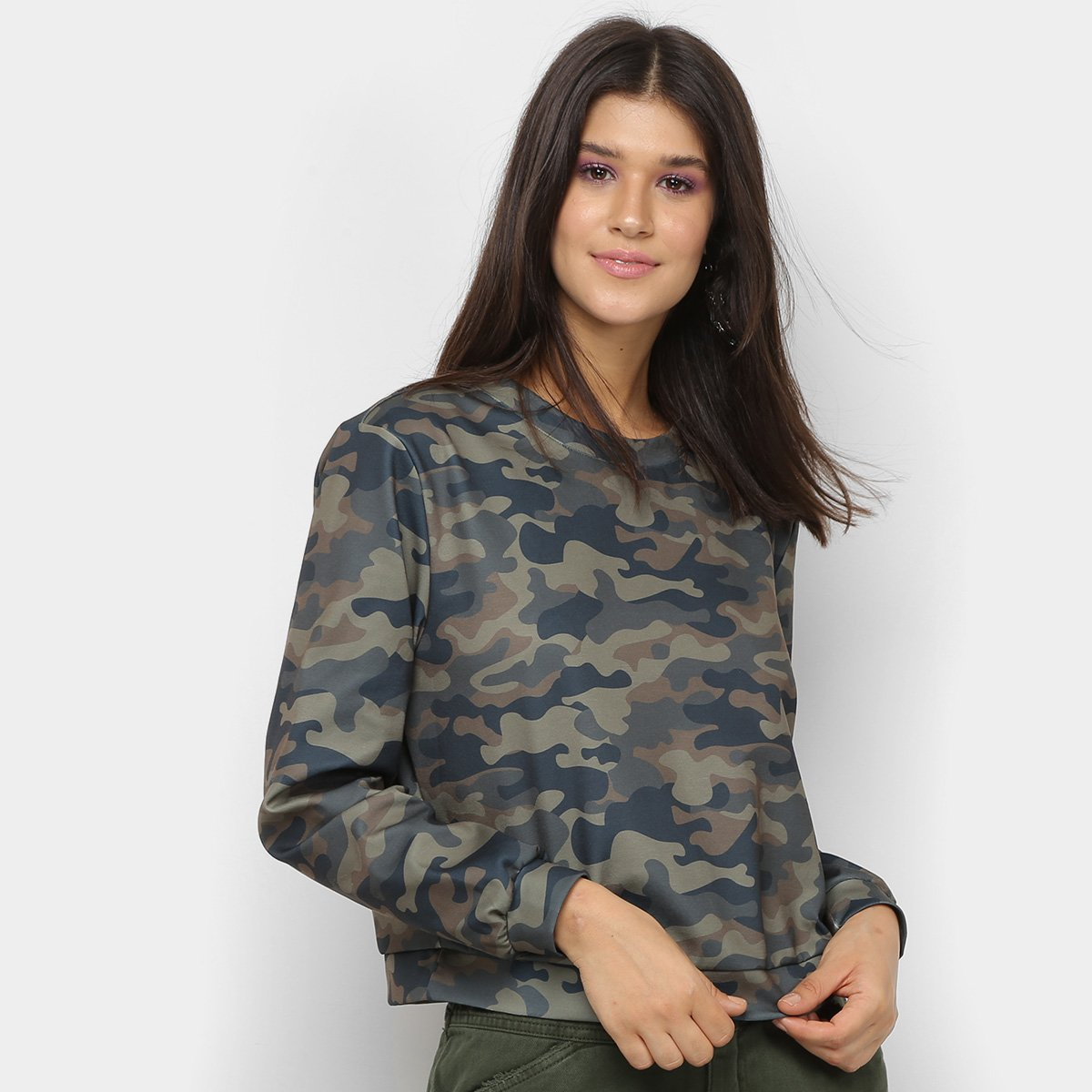 Moletom My Favorite Thing Camuflado Feminino