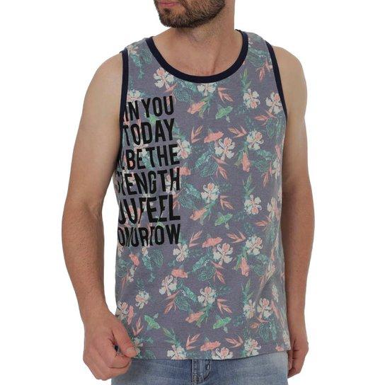 c85f594590a58 Camiseta Regata FBR Masculina - Azul e Laranja - Compre Agora