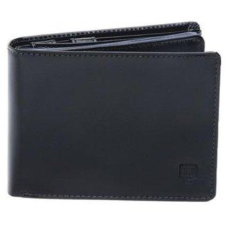 6d0a6a302 Carteira Em Couro Legítimo Completa Preta - Porta Cheque Plástico  Documentos E Porta Moeda