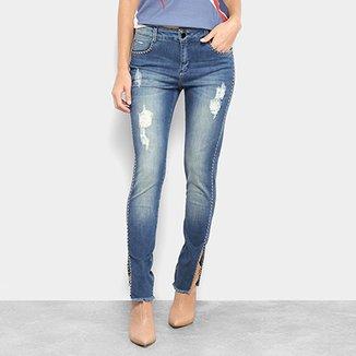 639084353 Calça Jeans Morena Rosa Skinny Andreia Tachas Feminina