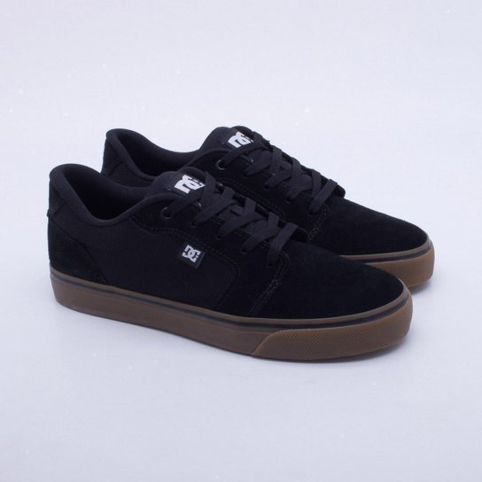 6f0f5195ff Tênis DC Shoes Anvil La Masculino - Preto e Chumbo - Compre Agora ...