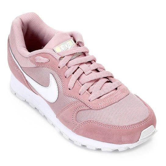 5164f9e8b12 Tênis Nike Md Runner 2 Feminino - Rosa e Branco - Compre Agora