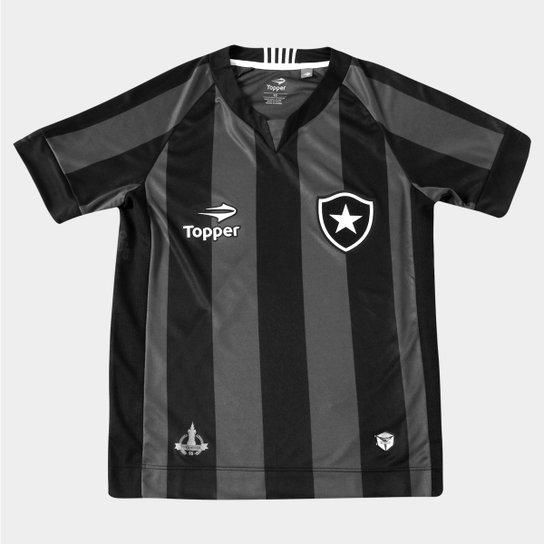 f0fefa95ba Camisa Topper Botafogo II 2016 s nº Infantil - Compre Agora