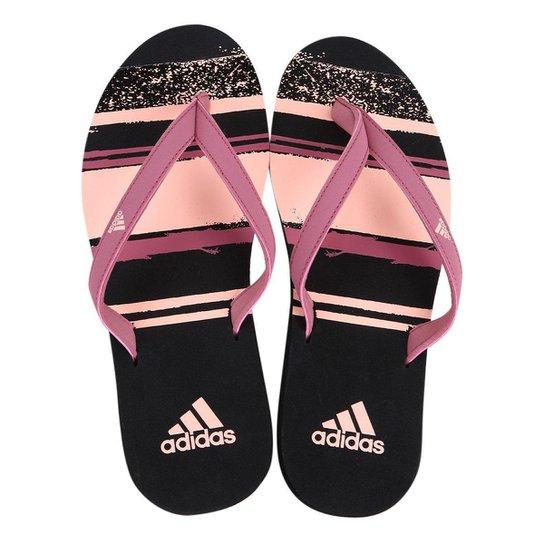 1e61626ce Chinelo Adidas Eezay Essence Feminino - Rosa e Preto - Compre Agora ...