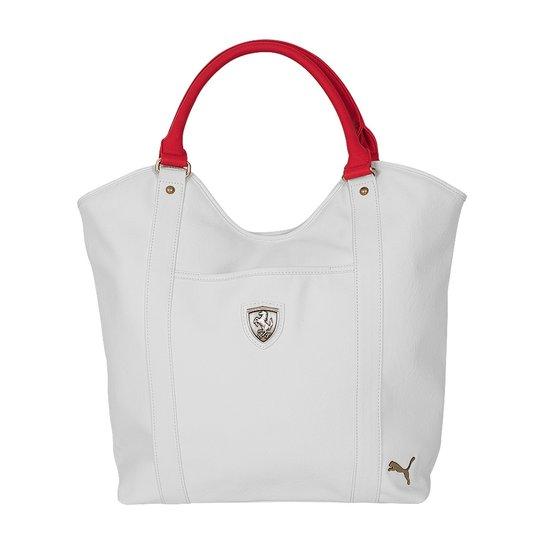 f44f85108 Bolsa Puma Ferrari Ls Shopper 070463 - Bege+Vermelho