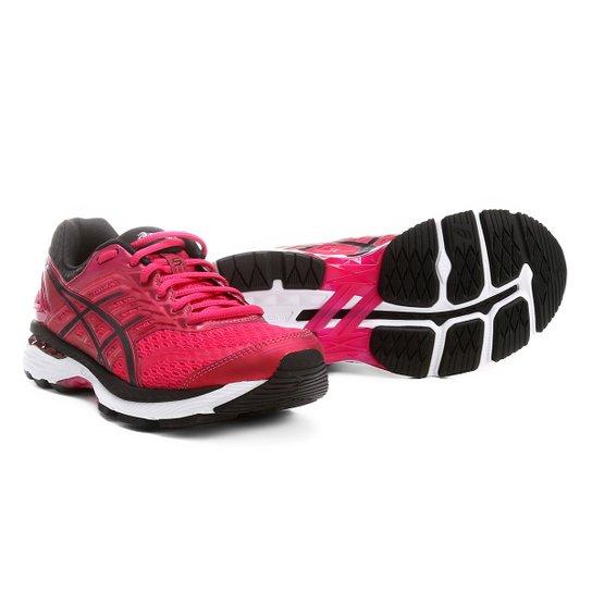 ... fb47e24706b Tênis Asics GT-2000 5 Feminino - Pink e Preto - Compre  Agora Zattini ... f444691cc0ca6