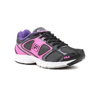 81158d2601 Tênis Esporte Feminino Fila Reach Rosa preto