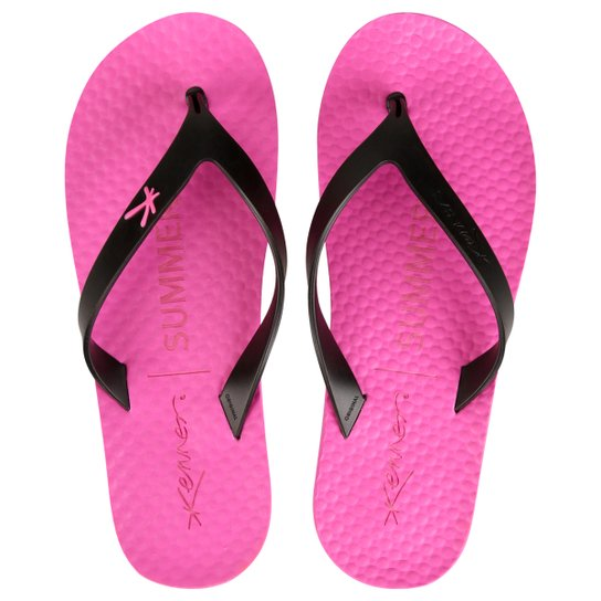 eb0268564 Chinelo Kenner Summer Black - Rosa+Preto