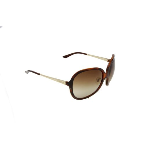 1042af0d9c5c7 Óculos de Sol Versace 100% Proteção U.V. Melani Tartarugado Feminino -  Marrom Escuro+Preto