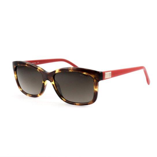 Óculos Bulget De Sol - Marrom e Vermelho - Compre Agora   Zattini 573bdf4c3a