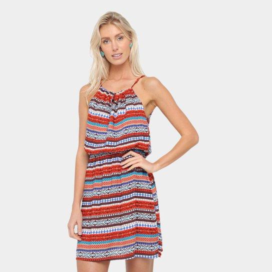 3abe6935e Vestido Agua Viva Evasê Curto Estampado - Compre Agora | Zattini