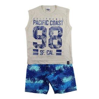 01e9decc9d Conjunto Duzizo Pacific Coast e Bermuda de 4 à 8 Anos