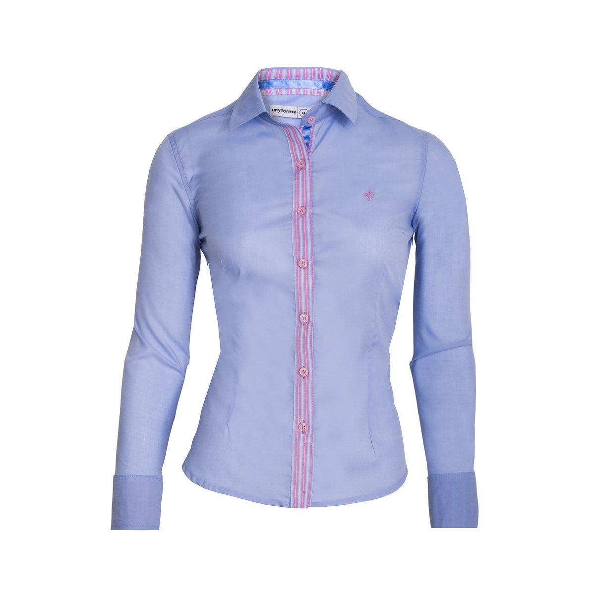 5ab49a423c 95.028 Camisa Social Feminina Modelo F