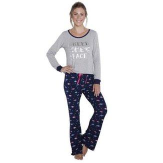 Pijama Longo Inspirate Planetas Feminino 2d7c2d8199e6b