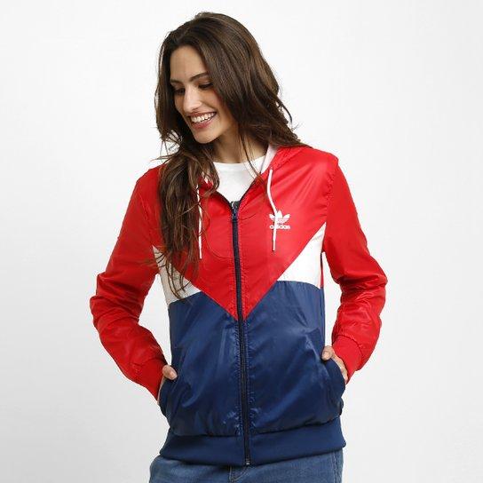 77cebf25d78 Jaqueta Adidas Colorado Wb c  Capuz - Vermelho+Marinho