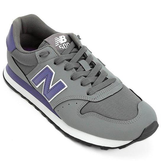 ce2b854fa2 Tênis New Balance 500 Masculino - Cinza e Marinho - Compre Agora ...
