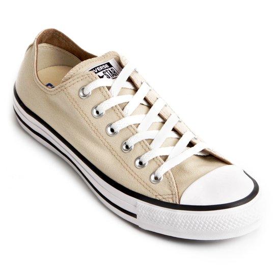 Tênis Converse Chuck Taylor All Star - Bege e Branco - Compre Agora ... 7783d4a584
