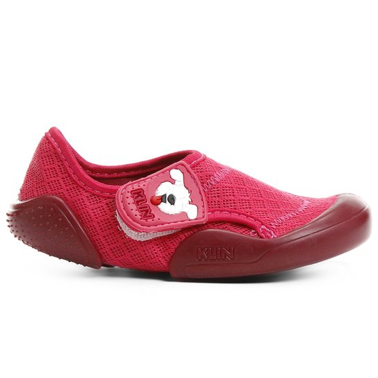 8dbfdb85ee Sapato Klin New Confort Infantil - Rosa+Vinho