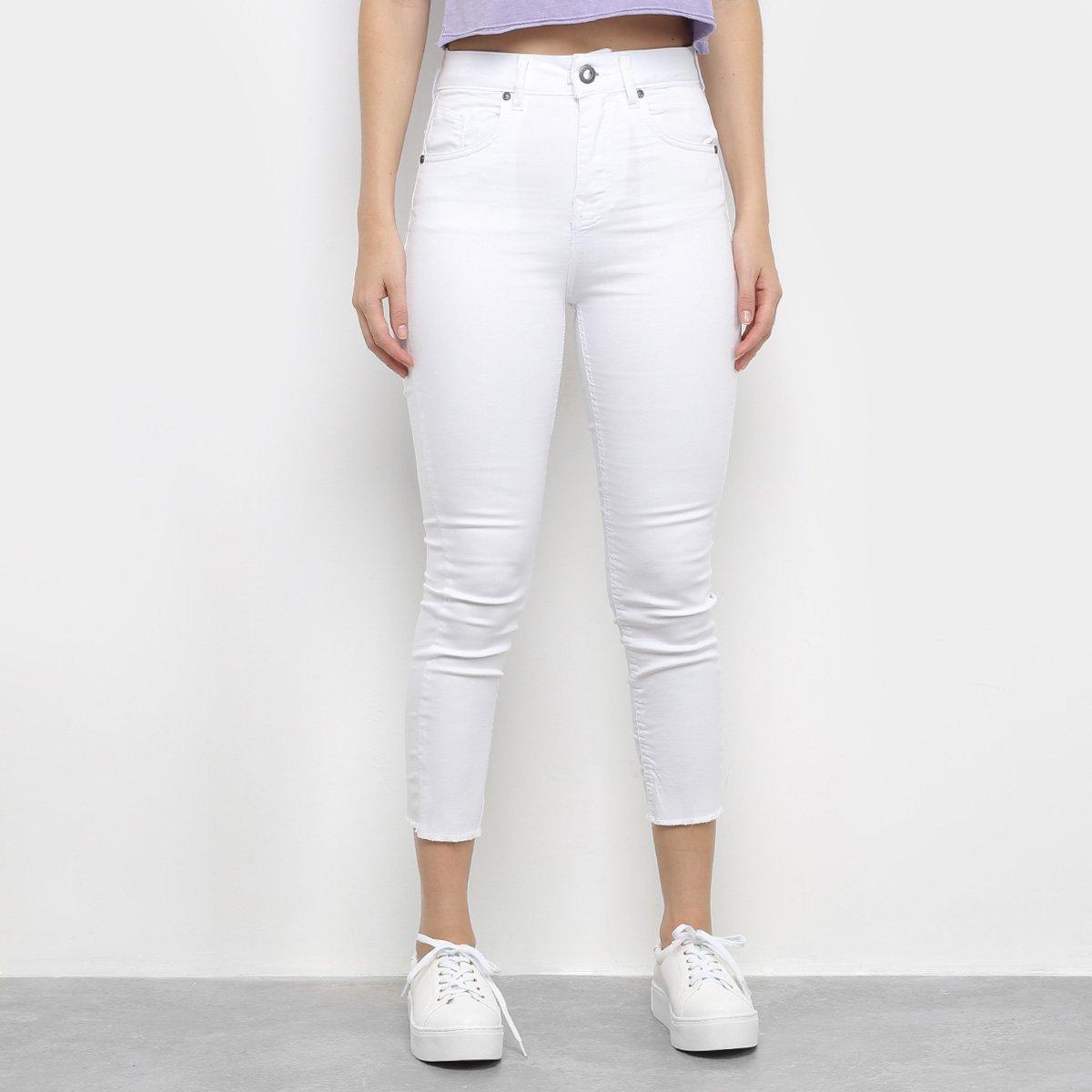 Calça Jeans Cigarette Volcom Stone Cintura Alta Feminina