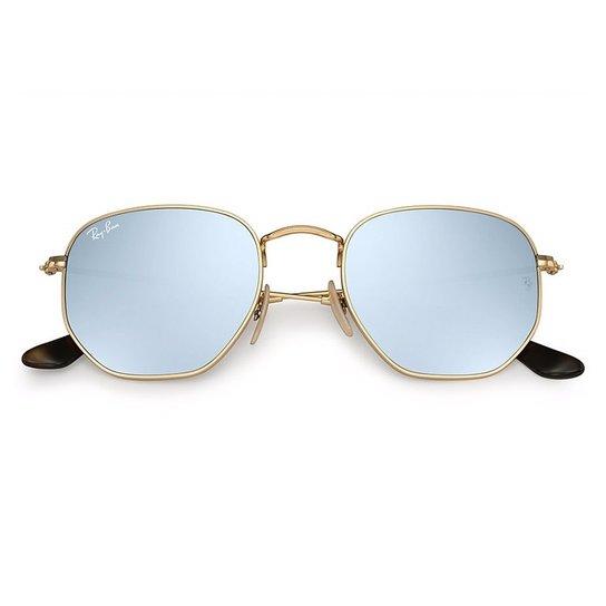 62d095d86 Óculos de Sol Ray Ban Hexagonal RB3548NL - Roxo e Dourado | Zattini