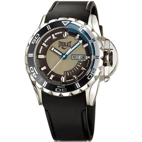 7252a1d3f82 Relógio Everlast Masculino Pulseira Silicone Analógico - Preto e ...
