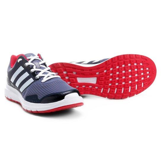 6bb8abcedf3 Tênis Adidas Duramo 7 Feminino - Chumbo e Vermelho - Compre Agora ...