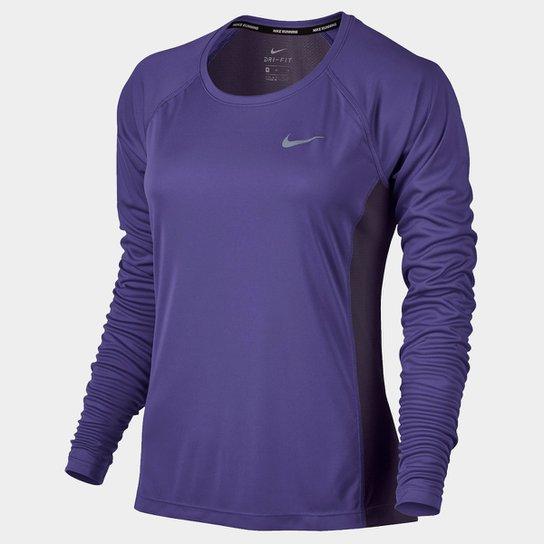 Camiseta Nike Dri-Fit Miler Top Manga Longa Feminina - Compre Agora ... 4cf9624d48166