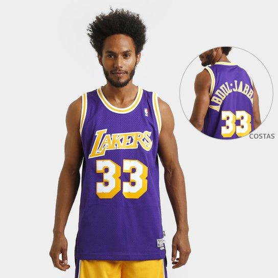 f05b37298 Camiseta Regata Adidas NBA Retired Los Angeles Lakers - Abdul Jabbar - Roxo