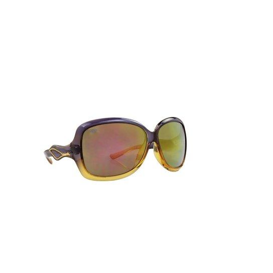 b343f2fdd193e Óculos de Sol Mormaii 100% Proteção UV e Feminino - Roxo e Dourado ...