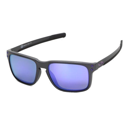 e95e8b59d7429 Óculos De Sol Oakley Holbrook Mix Iridium Masculino - Roxo - Compre ...