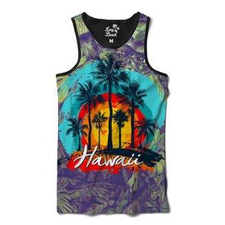 a2de948556e3d Camiseta Regata Long Beach Hawaii Coqueiros Sublimada Masculina