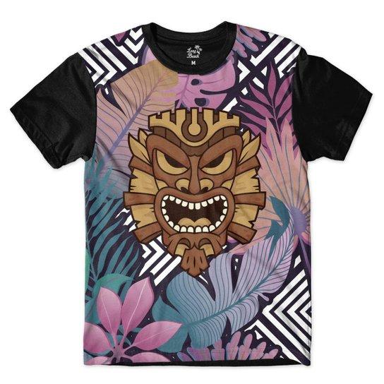 Camiseta Long Beach Totem Floral Rei Sublimada Masculina - Compre ... 8a19fc5c4c4