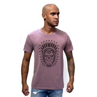 78d668663a Camiseta Estonada Caveira Indio