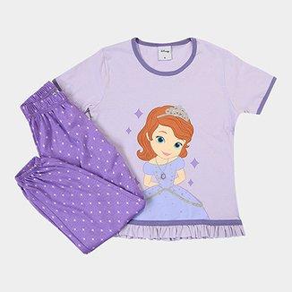 67a2696e0 Pijama Infantil Lupo Blusa + Calça Estampado Princesa Sofia Feminino