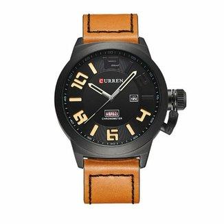 ceb7d1a09 Relógio Curren Analógico 8270 Preto e Bege