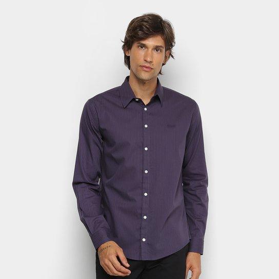 Camisa Colcci Slim Manga Longa Masculina - Roxo - Compre Agora  9cd4a30a8ae
