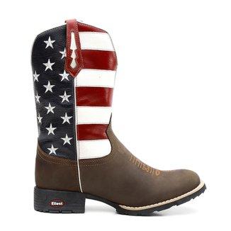 0df375c2253 Bota Texana Bandeira Eua Bico Redondo 0903