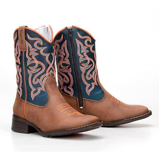 4297284669d41 Bota Infantil Country Texana Rodeio Capelli Masculina - Marrom e ...