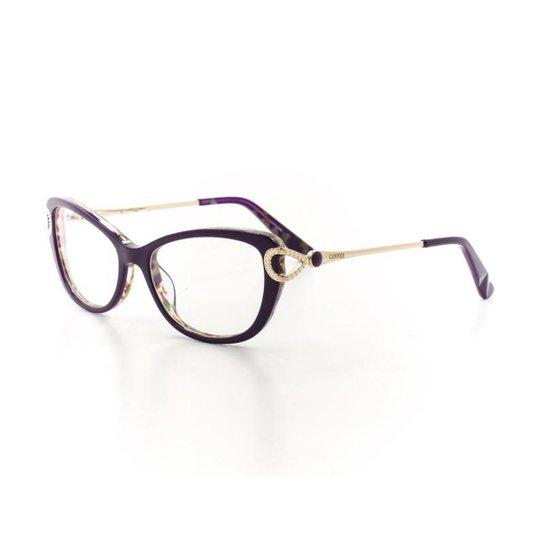 ae7d8a1d547e4 Armação De Óculos De Grau Cannes 7F143 T 51 C 4 Feminino - Roxo ...