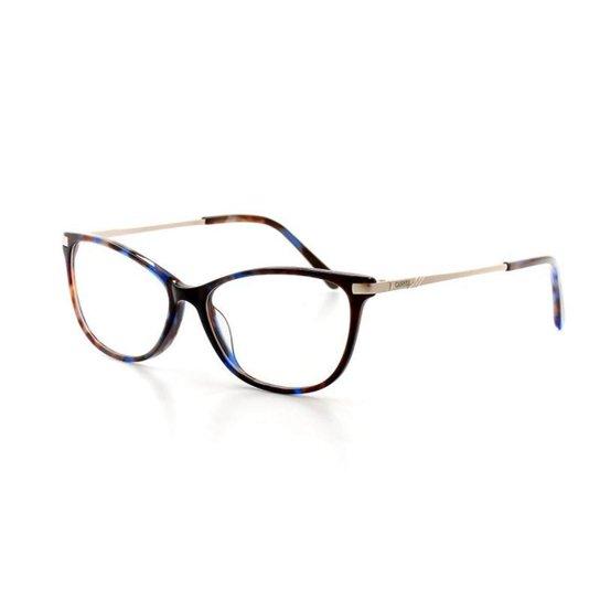 bf2e9653d8eee Armação De Óculos De Grau Cannes 2988 T 52 C 3 Feminino - Marrom+Azul