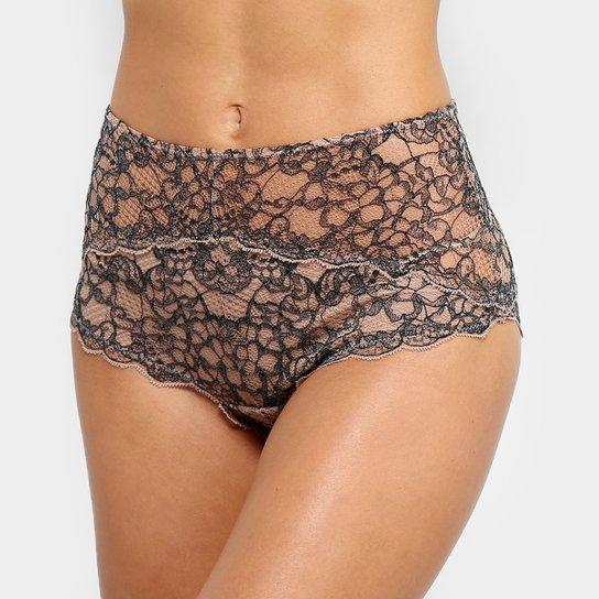 ead3eafb1 Calcinha Hot Pants Valisere Renda - Preto+Bege