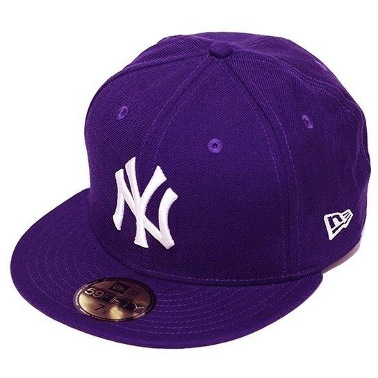 Boné New Era Aba Reta Fechado Mlb Ny Yankees Basic - Roxo - Compre ... 1297f2f23b7