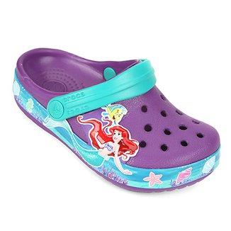 9fac344c8 Sandália Infantil Crocs Crocban Princess Ariel Clog Feminina