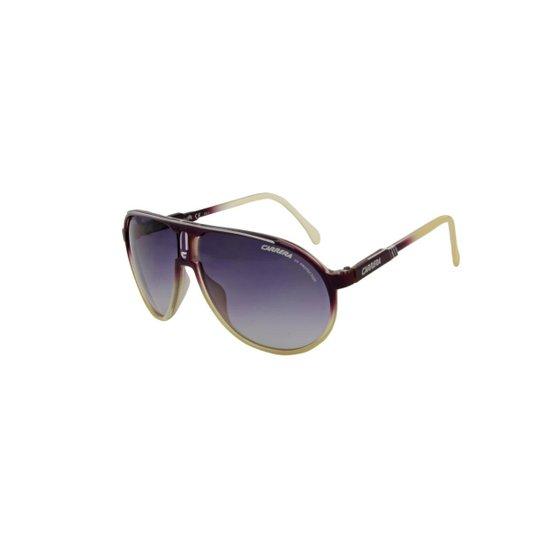 3ac9d1072feb7 Óculos de Sol Carrera 100% Proteção U.V. Ópticas Melani Feminino - Roxo