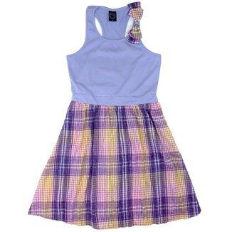 45309b65b6 Vestido Infantil Boca Grande Xadrez