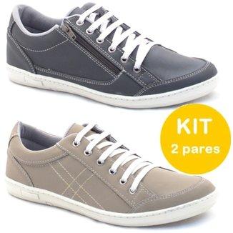 ab0cd7af2eb Kit Sapatenis Dexshoes Com Ziper