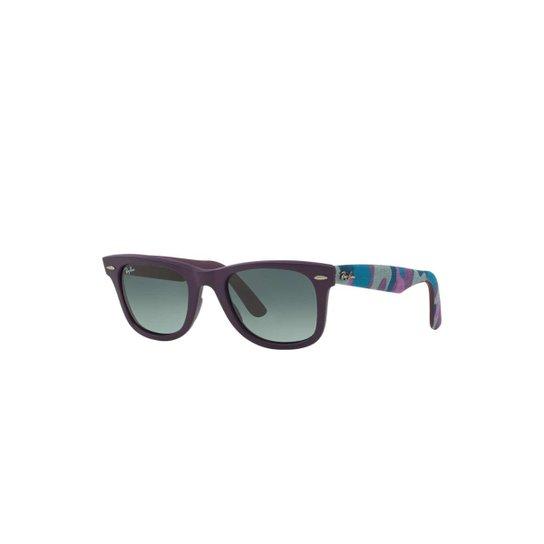 487323ed18 Óculos de Sol Ray-Ban Original Wayfarer Camuflagem Feminino - Roxo ...