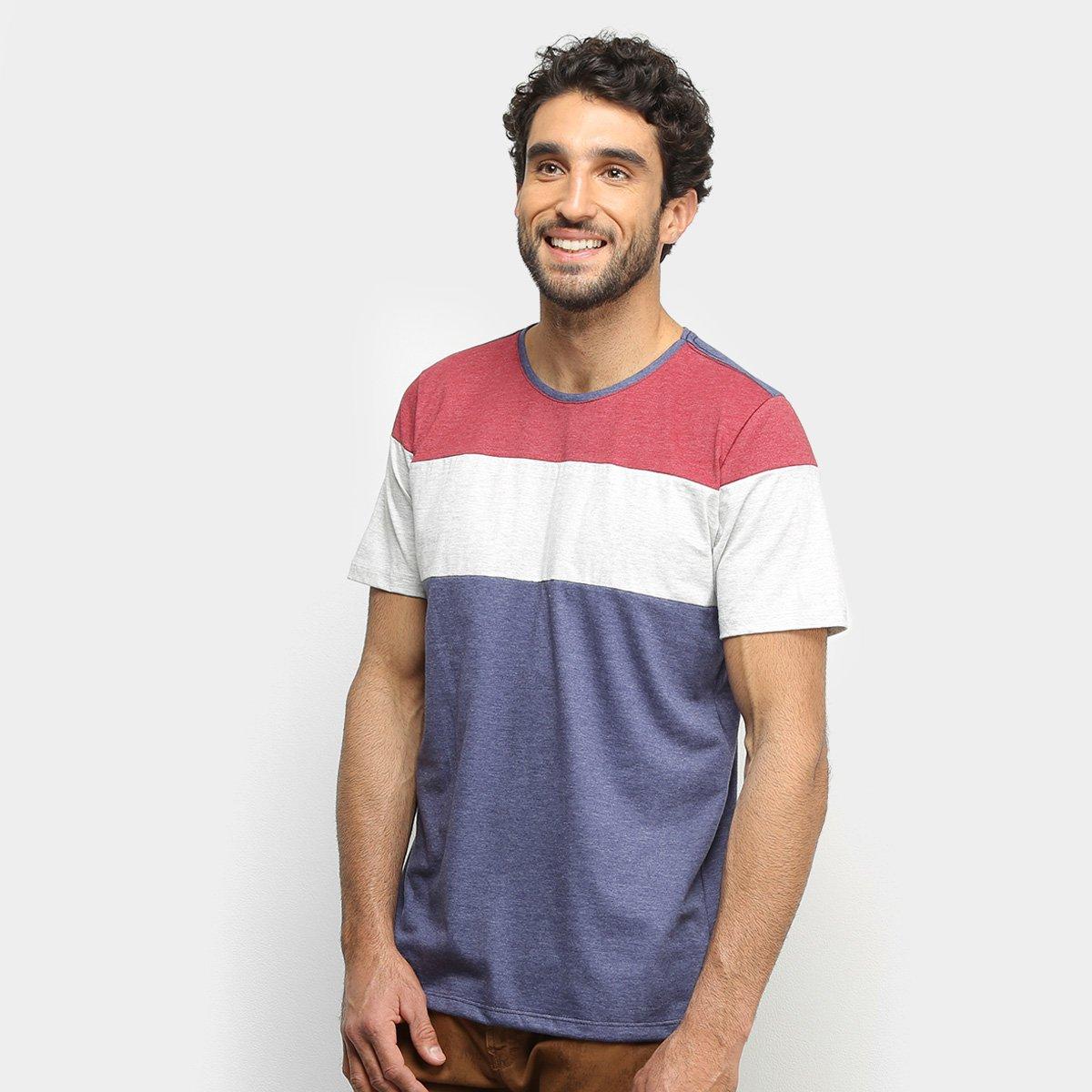 Camiseta Treebo Mescla Blocado Masculina