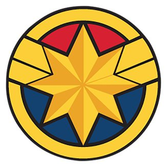 Acessório Para Crocs Infantil Jibbitz Capitã Marvel