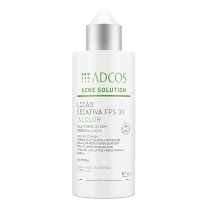 Adcos Acne Solution Loção Secativa Incolor Fps30 50ml